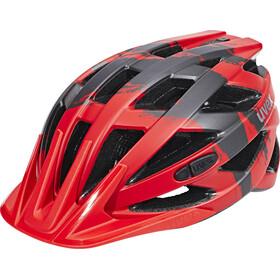 UVEX I-VO CC Helmet red-darksilver mat
